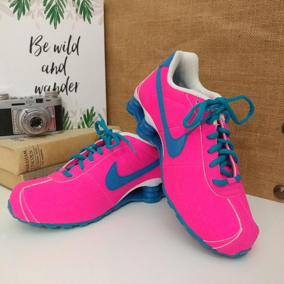 Hot Pinkblue Nike Shox Gravity